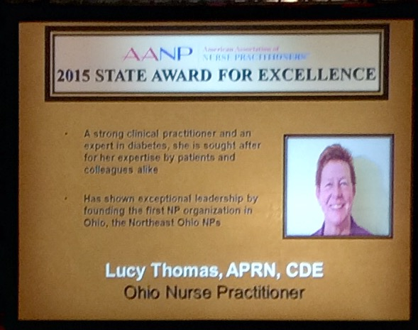 Congratulations to Nurse Practitioner Lucy Thomas, a long-time member and leader of the Northeast Ohio Nurse Practitioners.